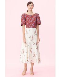 98c1b312e Rebecca Taylor Lurex Pleated Skirt in Metallic - Lyst