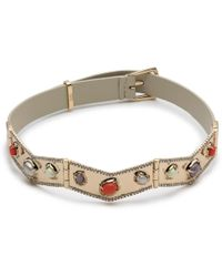 Alexis Bittar - Stone Cluster Buckle Leather Bracelet - Lyst