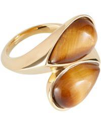 Amanda Wakeley - Gold Tiger Eye Ring - Lyst