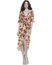Alice + Olivia - Clarine Wrap Midi Dress - Lyst