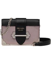35fec7a29ac0ef Prada Cahier Chain Shoulder Bag in Black - Lyst