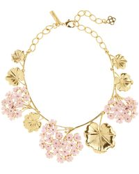 Oscar de la Renta - Painted Geranium Necklace - Lyst