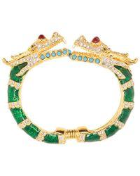 Kenneth Jay Lane - Green Dragon Bracelet - Lyst