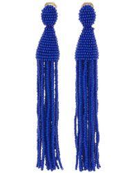 Oscar de la Renta - Long Beaded Tassel Earrings - Lyst
