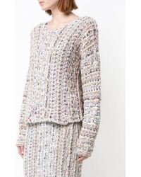 Adam Lippes - Hand-knit Tweed Long Sleeve Boatneck Sweater - Lyst