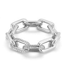 WALTERS FAITH - Saxon 18k Large Double Diamond Chain Link Ring - Lyst