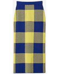 Derek Lam - Gingham Jacquard Knit Pencil Skirt - Lyst