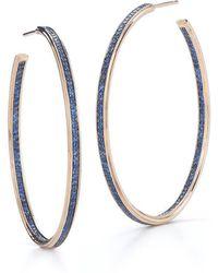 "WALTERS FAITH - Grant 1.5"" Sapphire Hoop Earrings - Lyst"