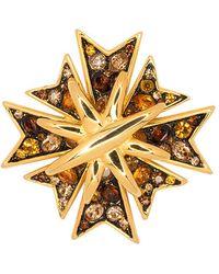 Kenneth Jay Lane - Multi Topaz Maltese Cross Pin - Lyst