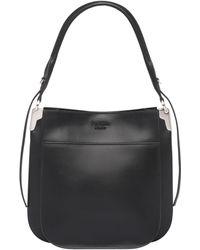d22a233de8b Lyst - Prada Nylon   Leather Shoulder Bag in Black