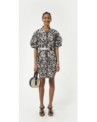 4ad77e74ae8adc Tory Burch Daphne Printed Silk Mini Dress - Lyst