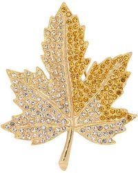 Kenneth Jay Lane - Maple Leaf Pin - Lyst