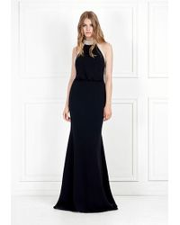Rachel Zoe - Alison Pearl-embellished Stretch-crepe Gown - Lyst