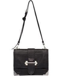 1afcfca3ef8e Prada - Cahier Leather Shoulder Bag - Lyst