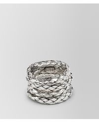 Bottega Veneta - Intrecciato Silver Ring - Lyst