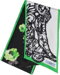 Prada - Double Match Baroque Printed Silk Scarf - Lyst