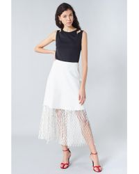 08d385b02c1 Sonia Rykiel High-waisted Pleated Long Skirt in Red - Lyst