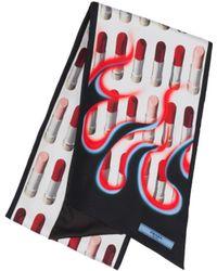 Prada - Double Match Lipstick Printed Silk Scarf - Lyst