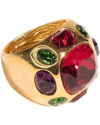 Kenneth Jay Lane - Ruby Center Ring - Lyst