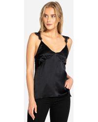 d78d048b03bbf Lyst - Rag   Bone Michelle Knit Coldshoulder Top Black in Black