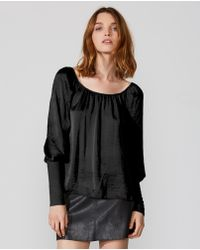 a4f78060662e3 Lyst - Bailey 44 Title Roll Off-the-shoulder Sequin Blouse in Black