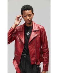 VEDA - Jayne Smooth Leather Jacket - Lyst