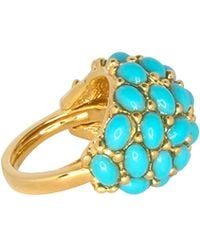 Kenneth Jay Lane - Turquoise Cabochon Dome Ring - Lyst