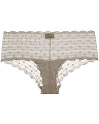 Lyst - WIXSON Triangle Underwear With Swiss Dots in White a14b1d861