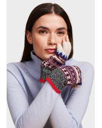 White + Warren - Cashmere Fair Isle Fingerless Glove - Lyst