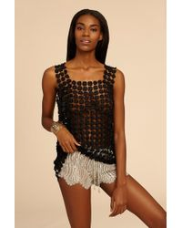 Miguelina - Minnie Metallic Chantilly Lace Short - Lyst