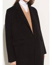 Vince - Long Brushed-wool Coat - Lyst