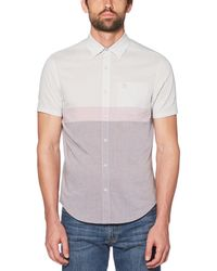 Original Penguin - Classic Fit Colorblock Lawn Shirt - Lyst