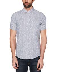 Original Penguin - Bowling Print Chambray Shirt - Lyst