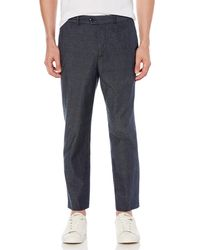 Original Penguin - Stretch Chambray Tapered Crop Trouser - Lyst
