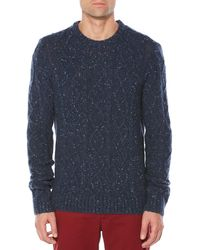 Original Penguin - Wool Alpaca Fisherman Sweater - Lyst