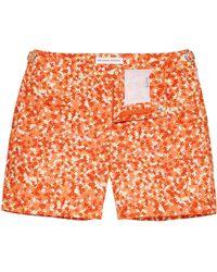 Orlebar Brown - BULLDOG Ninfea Hacienda/Yellow/Hot Coral Mid-Length Swim Shorts - Lyst