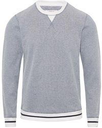 Orlebar Brown - Pierce Pique Sweatshirt Mit Klassischer Passform In Weiß/heron Melange - Lyst