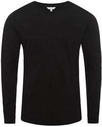 Orlebar Brown - Ob-t Black Tailored-fit Crew-neck T-shirt - Lyst