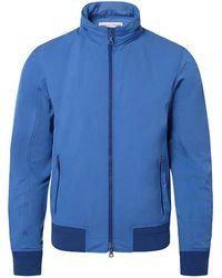 Orlebar Brown - Murdoch Heron/navy Lightweight Hooded Jacket - Lyst