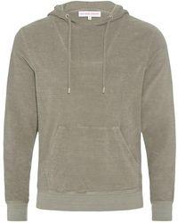 Orlebar Brown - Karson Towelling Kapuzen-sweatshirt Mit Klassischer Passform In Storm - Lyst