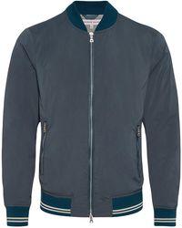 Orlebar Brown - Allington Steel Blue Bomber Jacket - Lyst