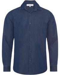 Orlebar Brown - Meden Indigo Classic-fit Shirt - Lyst