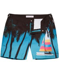 Orlebar Brown - Bulldog Mittellange Badeshorts Tree Breeze - Lyst
