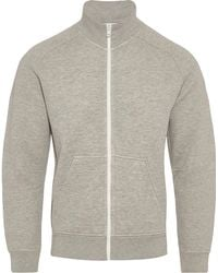 Orlebar Brown - Elsham Grey Melange Zip-through Sweatshirt - Lyst