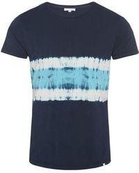 Orlebar Brown - Ob-t T-shirt Mit Rundhalsausschnitt Und Körperbetonter Passform In Navy/azure - Lyst