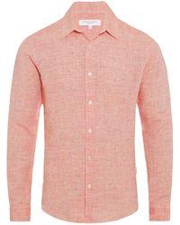 Orlebar Brown - Morton Linen Tailored-fit Shirt Hacienda - Lyst