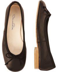 Oscar de la Renta - Brown Leather Sabrinas - Lyst