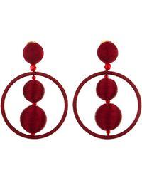 Oscar de la Renta - Threaded Bead Hoop Earrings - Lyst