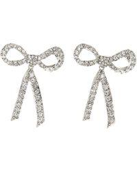 Oscar de la Renta - Pavé Bow Earrings - Lyst
