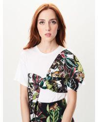 Oscar de la Renta - Jungle Print Tie Jersey T-shirt - Lyst